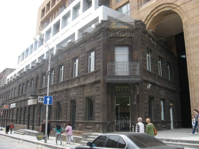 Escada building in Yerevan, near the Vernissage