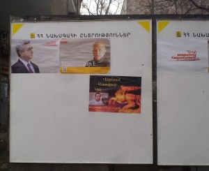 Armenian presidential campaign posters