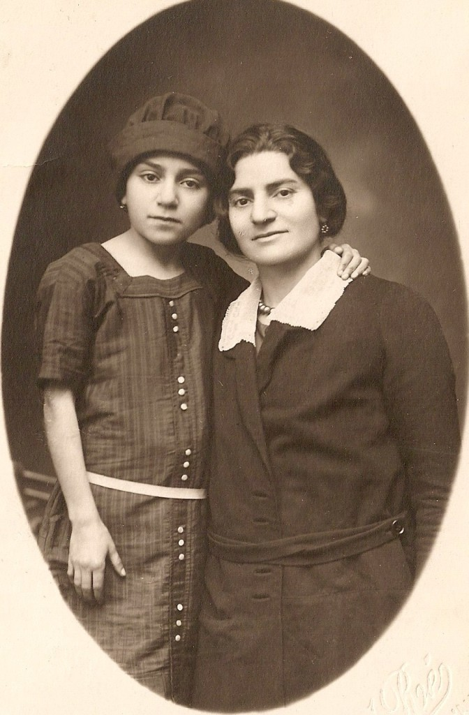 My grandmother Clara with her mother, Haigouhi